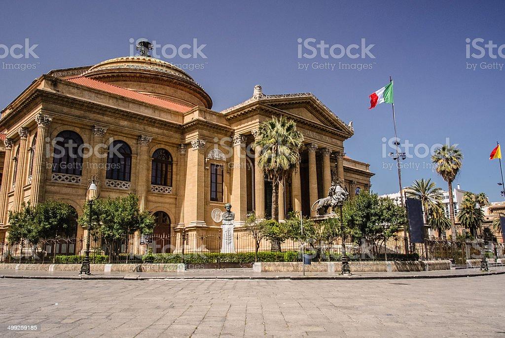 Palermo Opera House stock photo