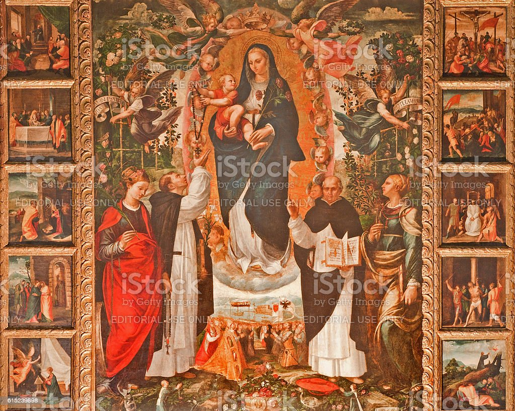 Palermo - Renaissance paint of Madonna (1540) stock photo