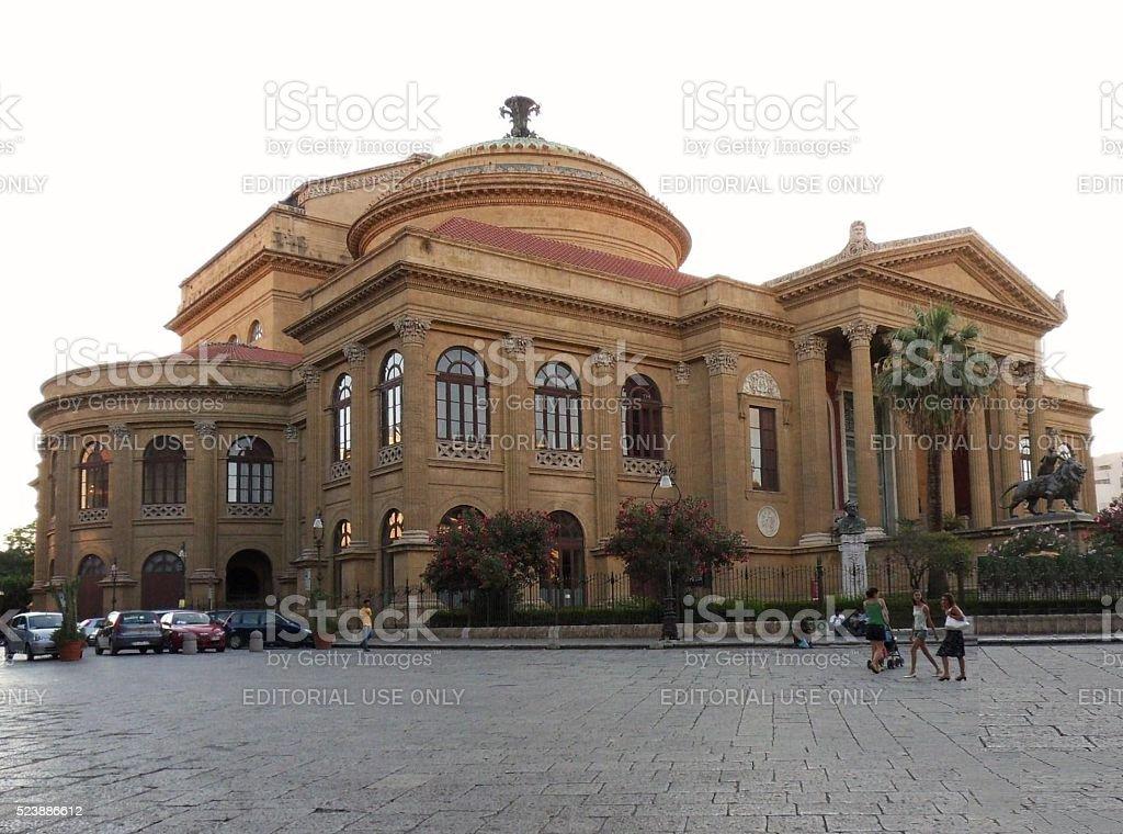 Palermo - Teatro Massimo stock photo