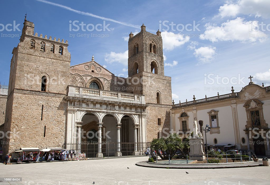 Palermo - West facad of Monreale cathedral royalty-free stock photo
