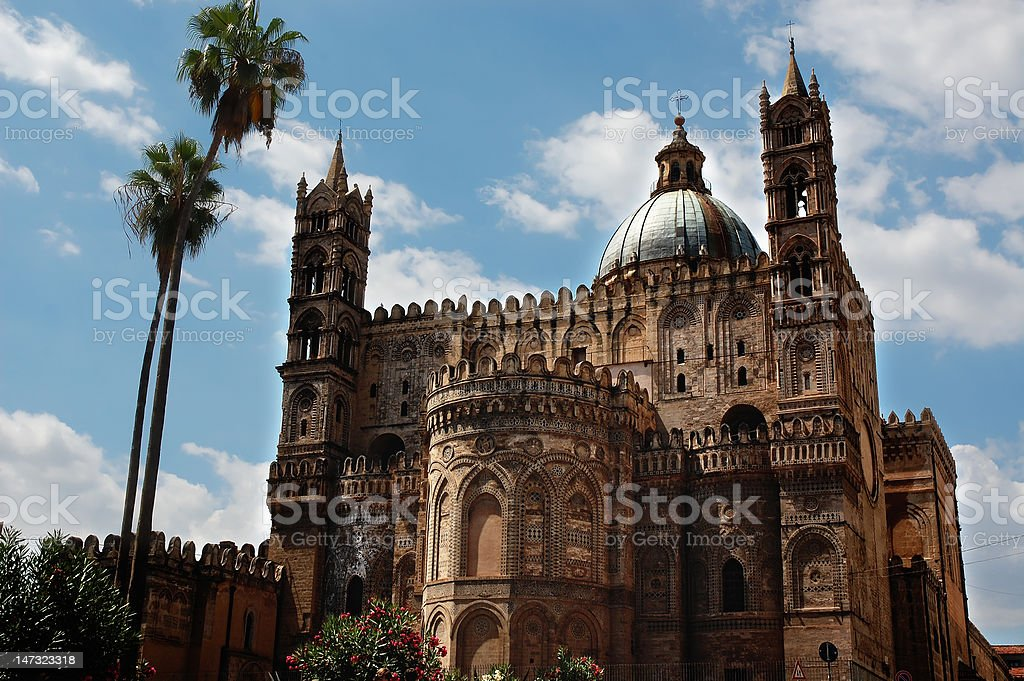 Palermo's cathedral stock photo