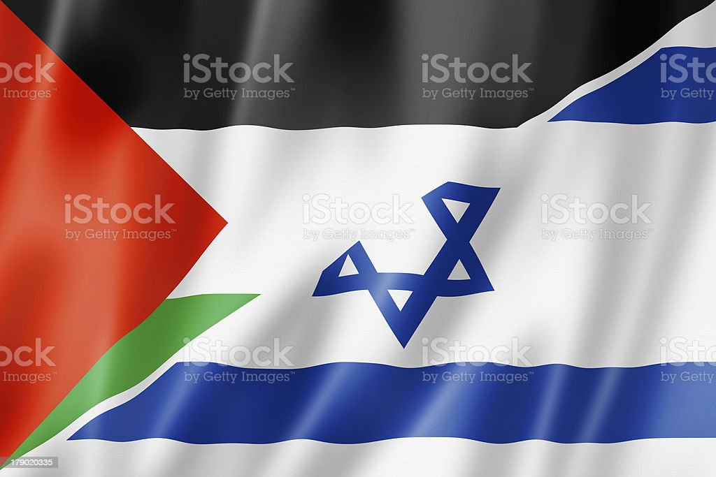 Palestine and Israel flag stock photo