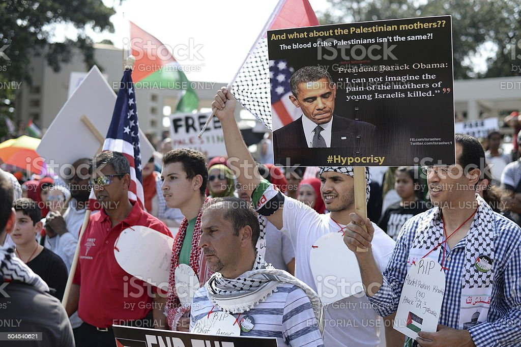 Palestine - Israel Conflict Rally Photos stock photo