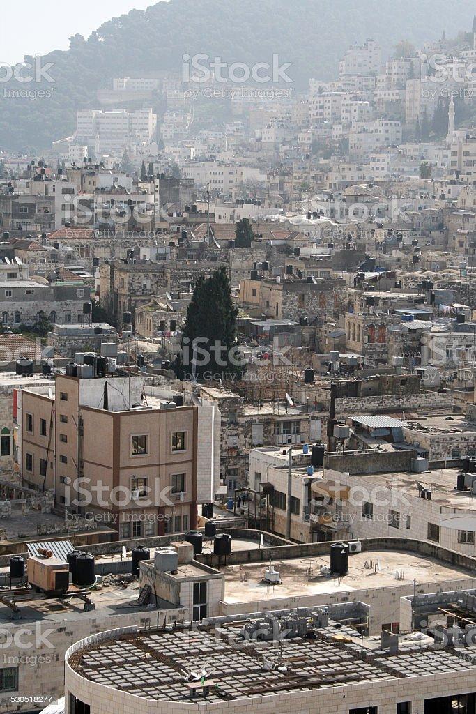 Palestinian city. stock photo