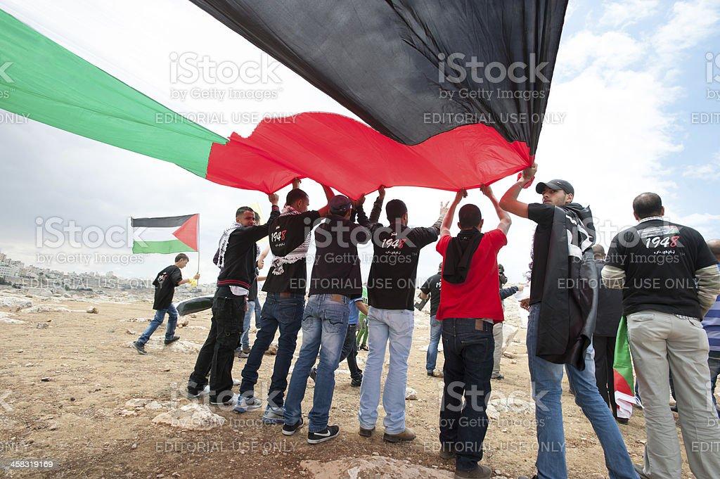 Palestinian demonstration stock photo