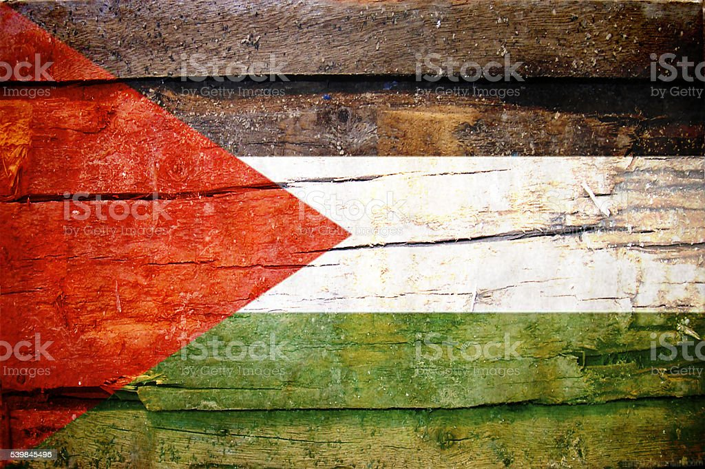 Palestinian Flag - Palestine stock photo