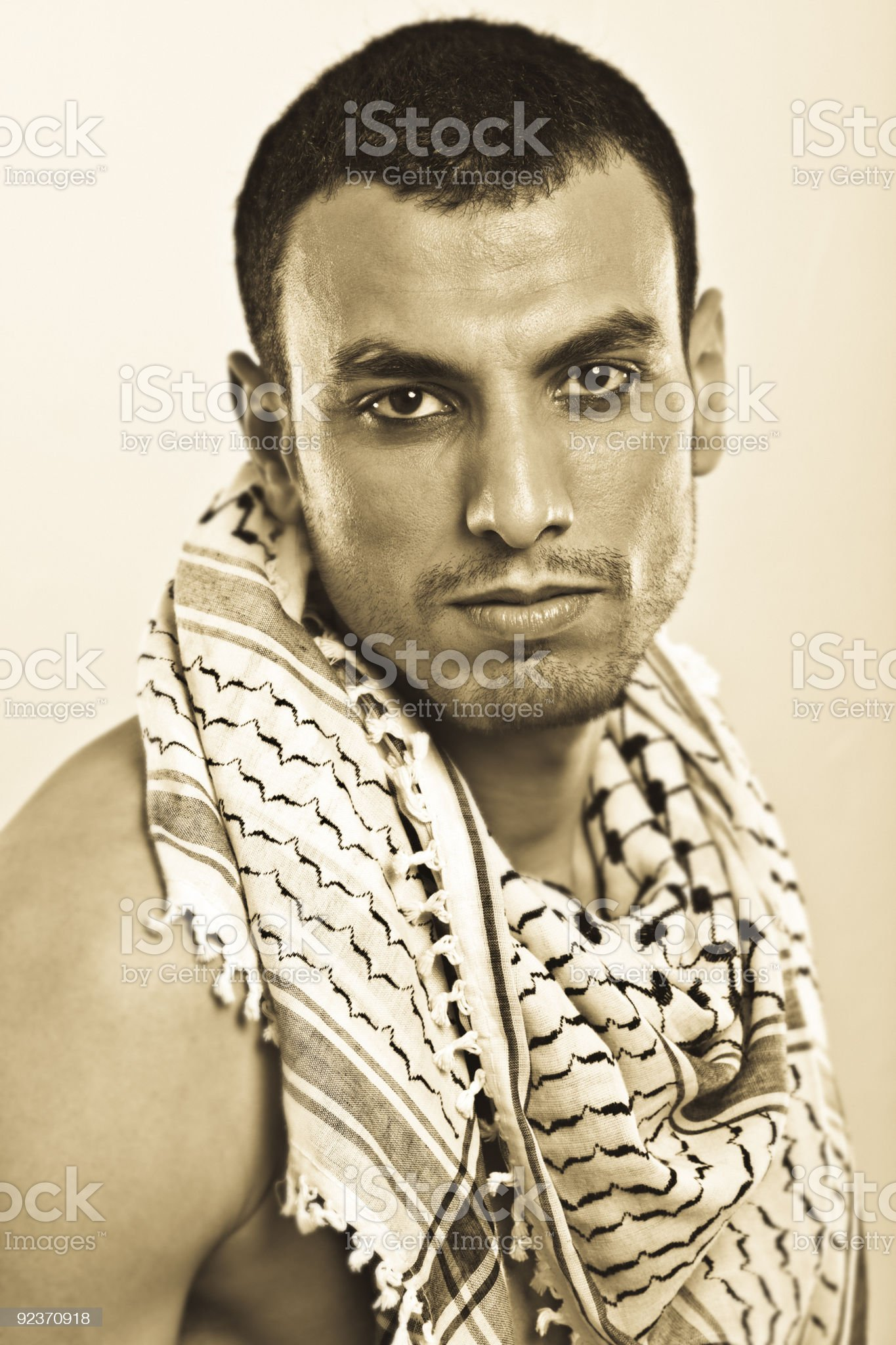 Palestinian man royalty-free stock photo