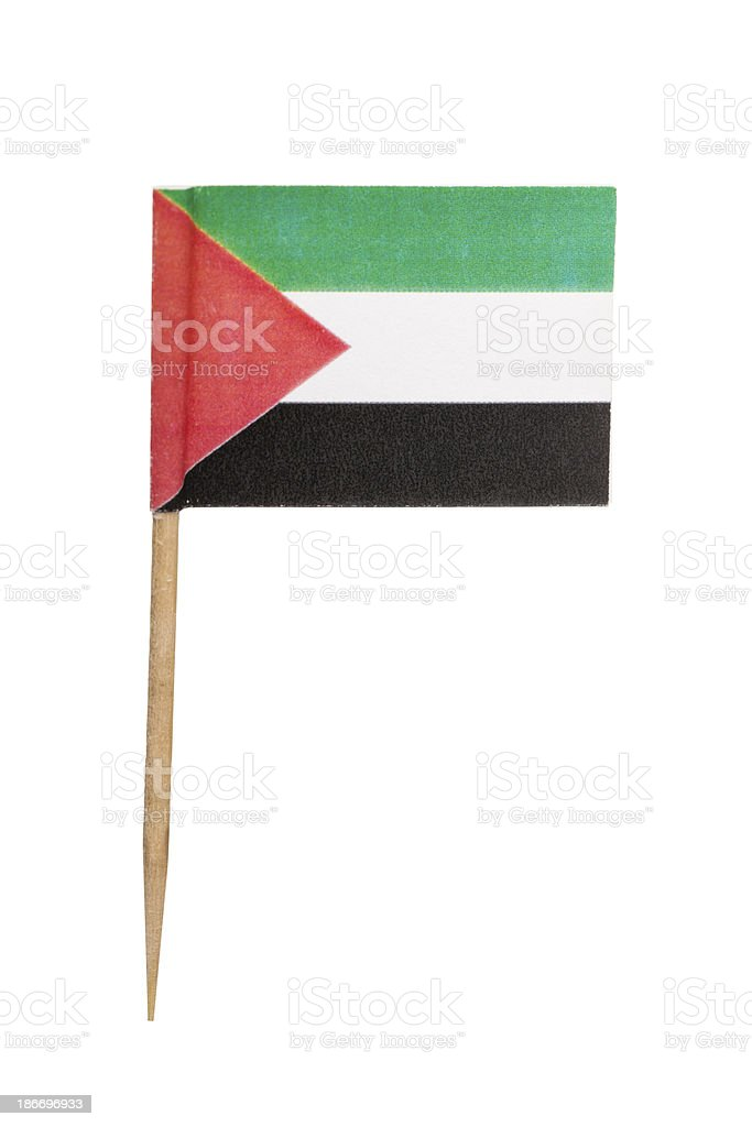 Palestinian  paper flag stock photo