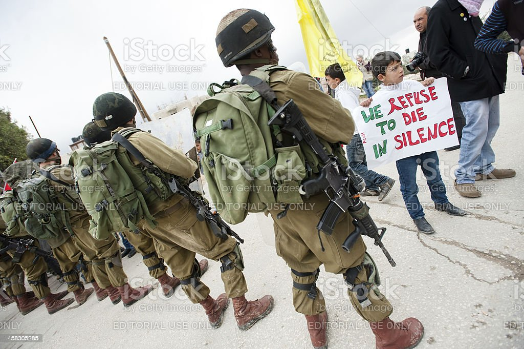 Palestinian protest royalty-free stock photo