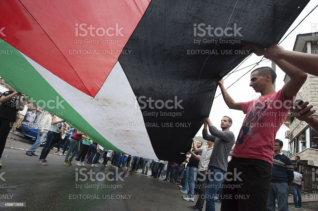 Palestinian protest stock photo