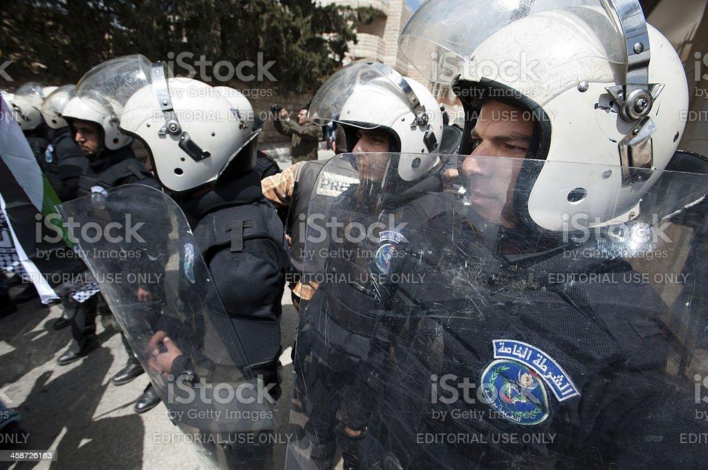Palestinian Riot Police royalty-free stock photo