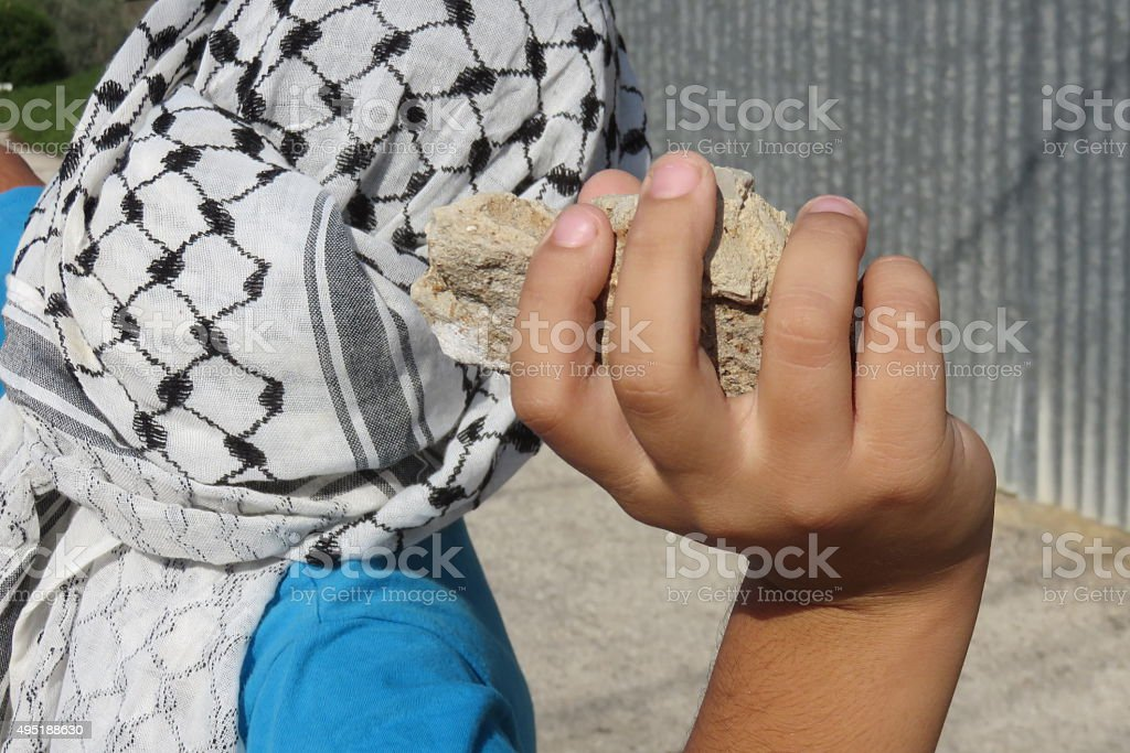 Palestinian struggle for independence Concept stock photo
