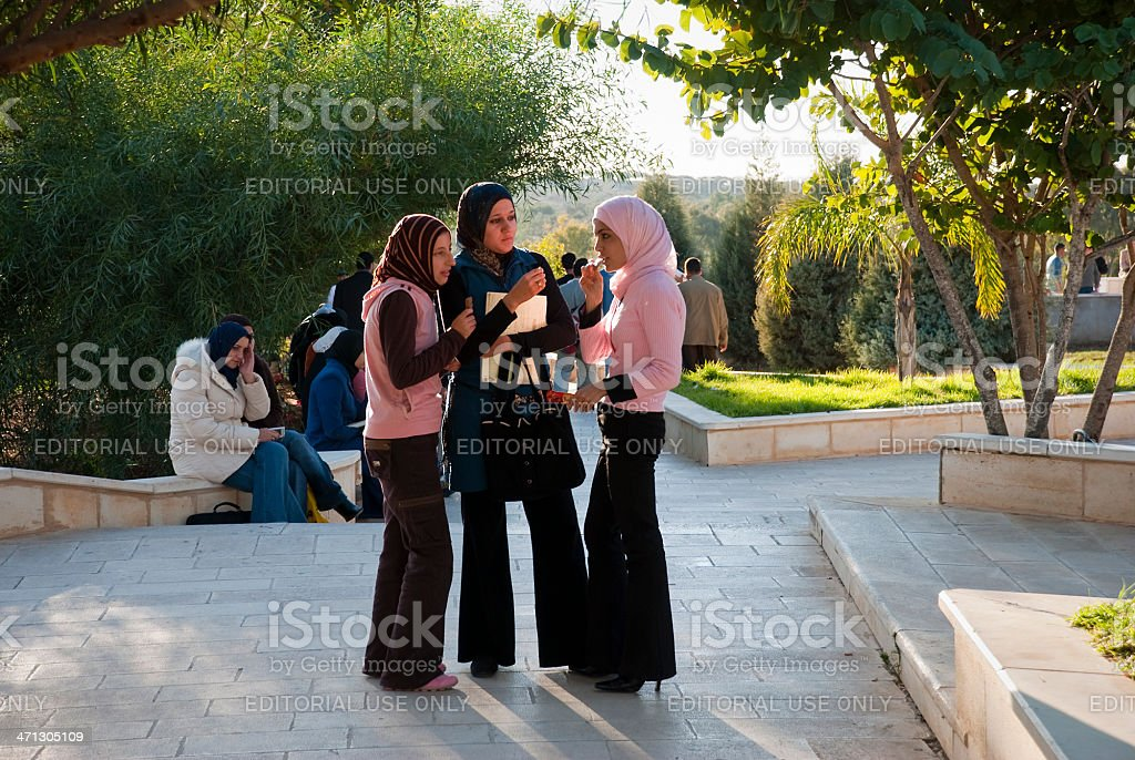 Palestinian university students royalty-free stock photo
