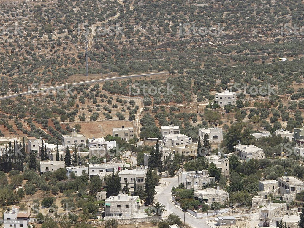 Palestinian village Marda royalty-free stock photo