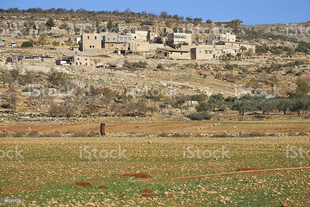 Palestinian village of Yanoun in the northern West Bank royalty-free stock photo