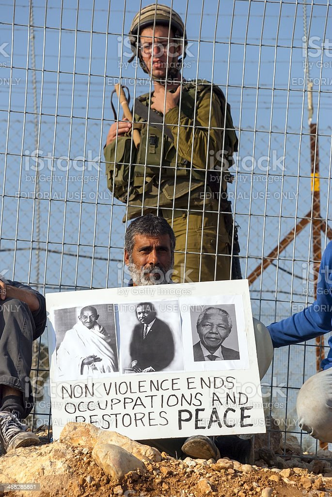 Palestinians and non-violence royalty-free stock photo