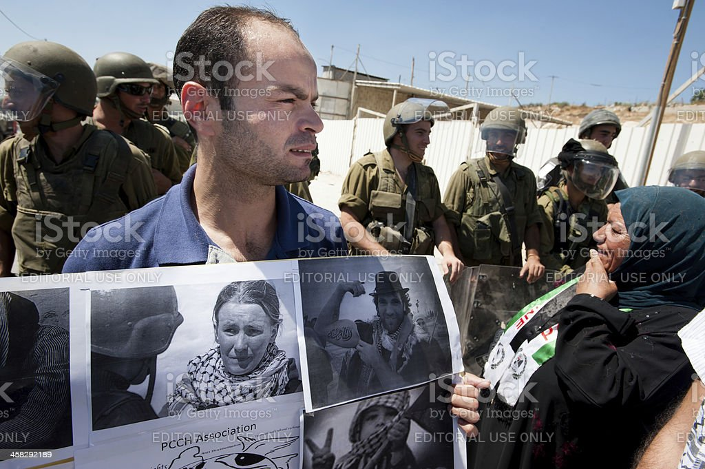 Palestinians remember activist Rachel Corrie royalty-free stock photo