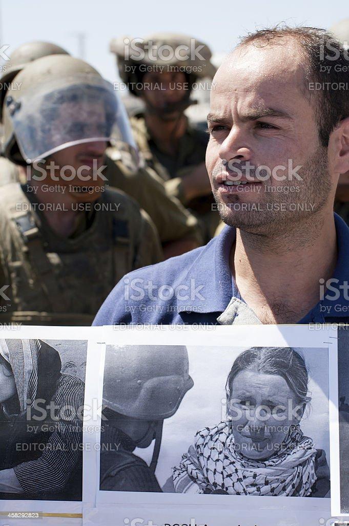 Palestinians remember activist Rachel Corrie royalty-free stock photo