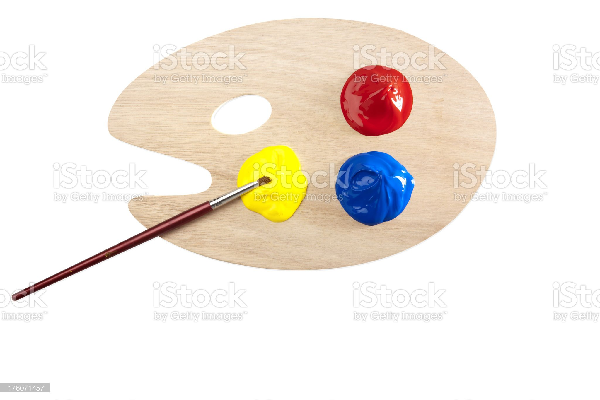 Palette and primary colors royalty-free stock photo