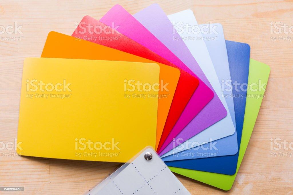 Palette colori a ventaglio stock photo