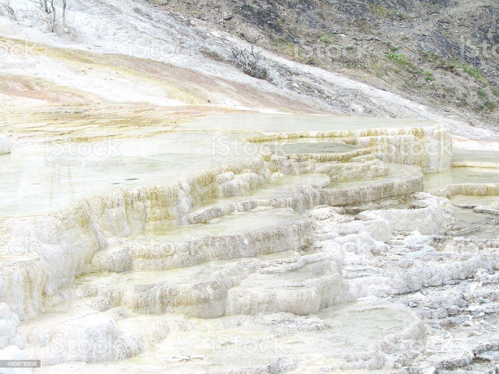 Palette falls, Yellowstone stock photo