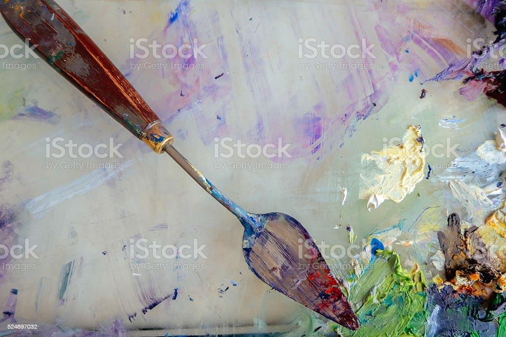 Palette knife stock photo