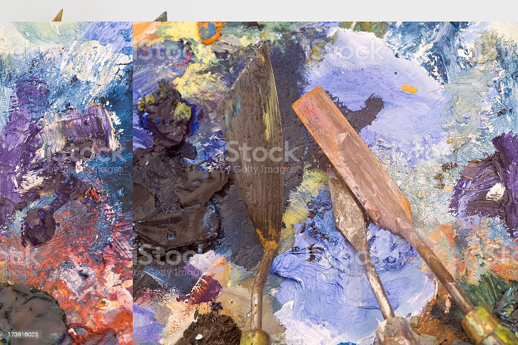 Palette knives royalty-free stock photo