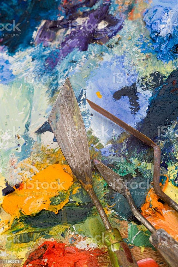 Palette knives stock photo