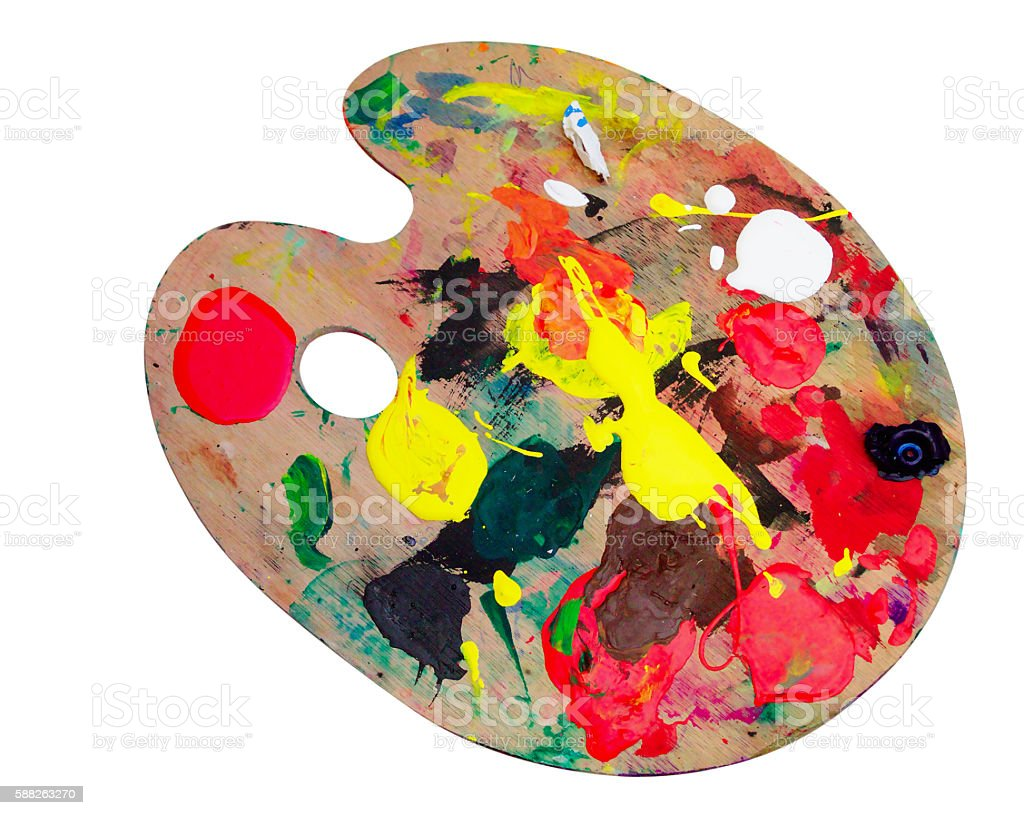 Palette of an Artist stock photo