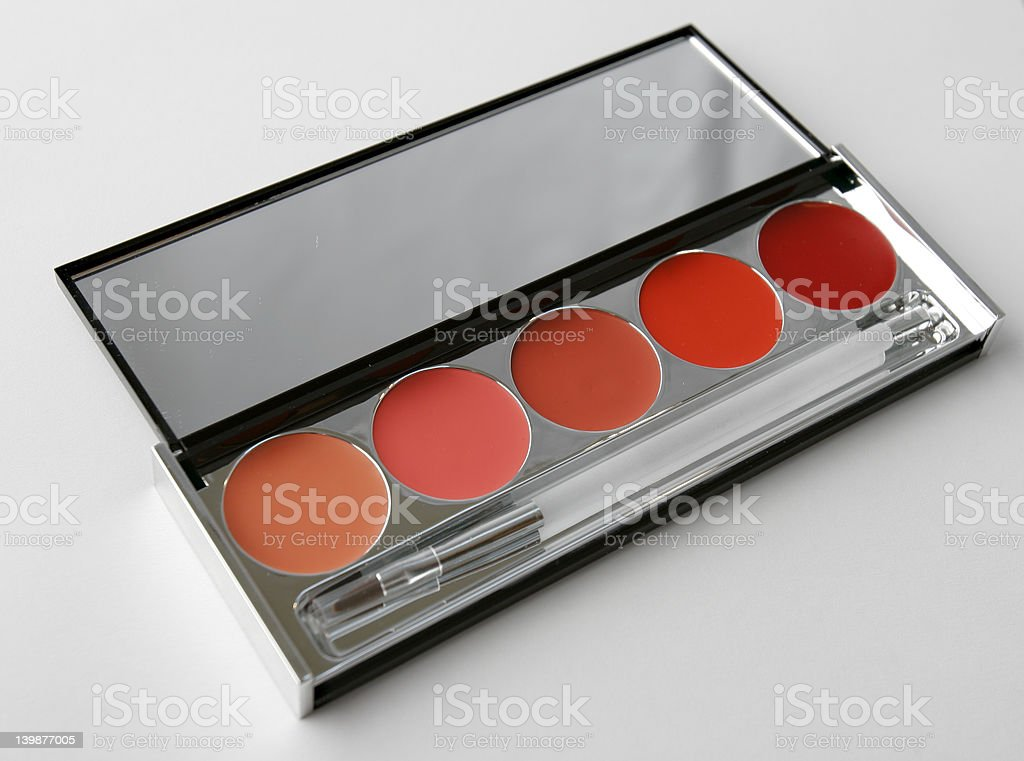 palette of lipstick stock photo