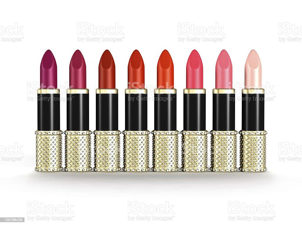 Palette of Luxury Lipsticks royalty-free stock photo