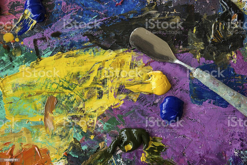 Palette oil royalty-free stock photo