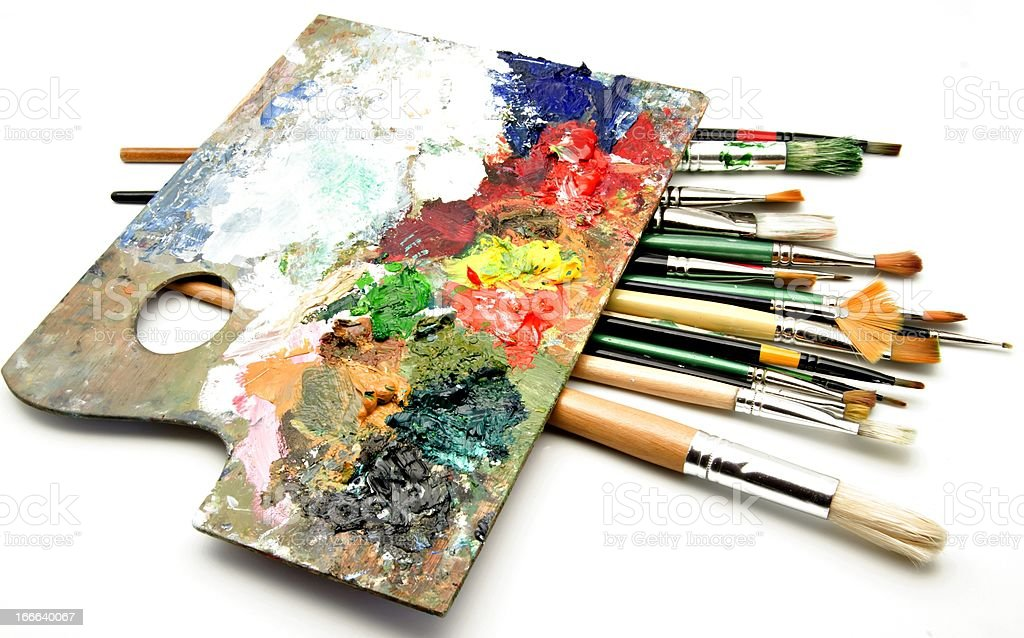 Palette royalty-free stock photo