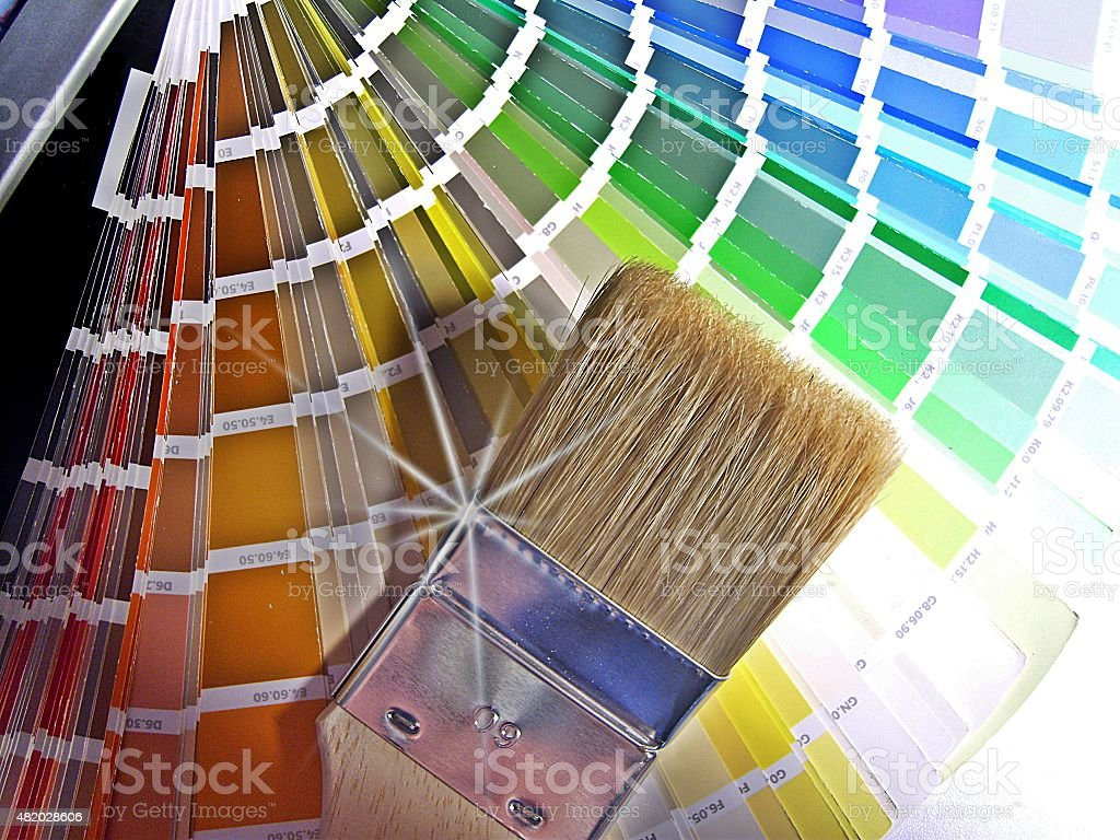 Farbpalette stock photo
