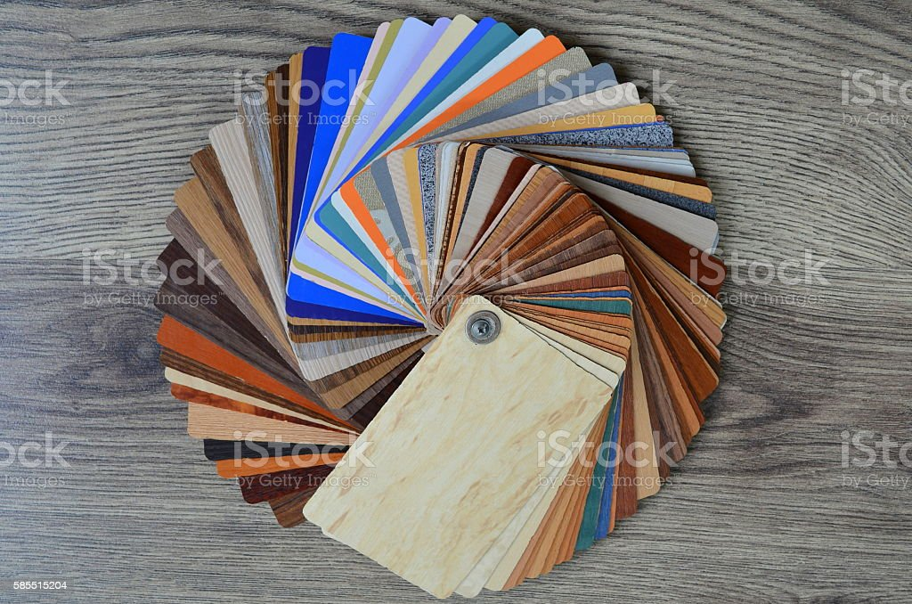 Palette samples of different colors stock photo