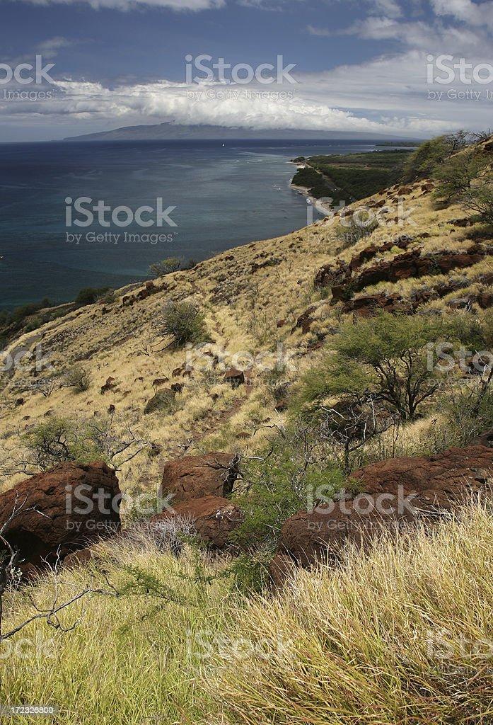 Pali randonnée sur l'île de Maui, à Hawaï photo libre de droits