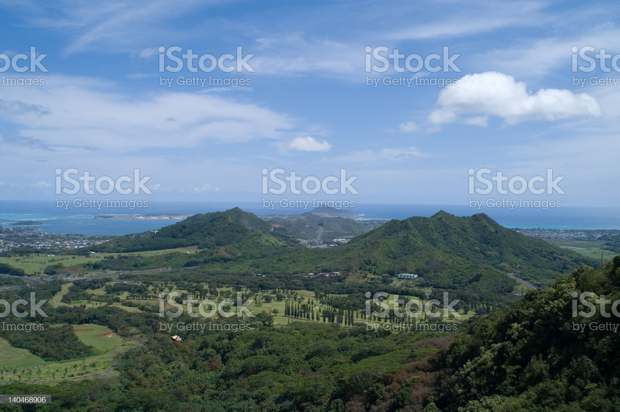 Pali lookout view (2) royalty-free stock photo