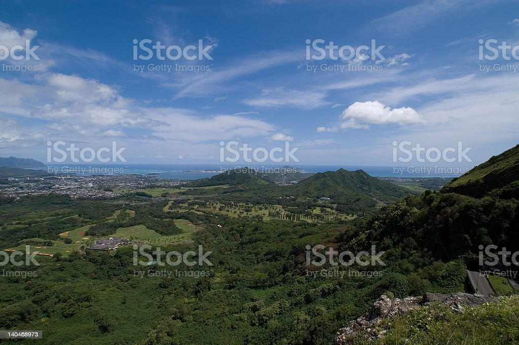 Pali lookout view (5) royalty-free stock photo