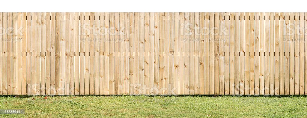 Paling Fence Isolated & Seamless stock photo
