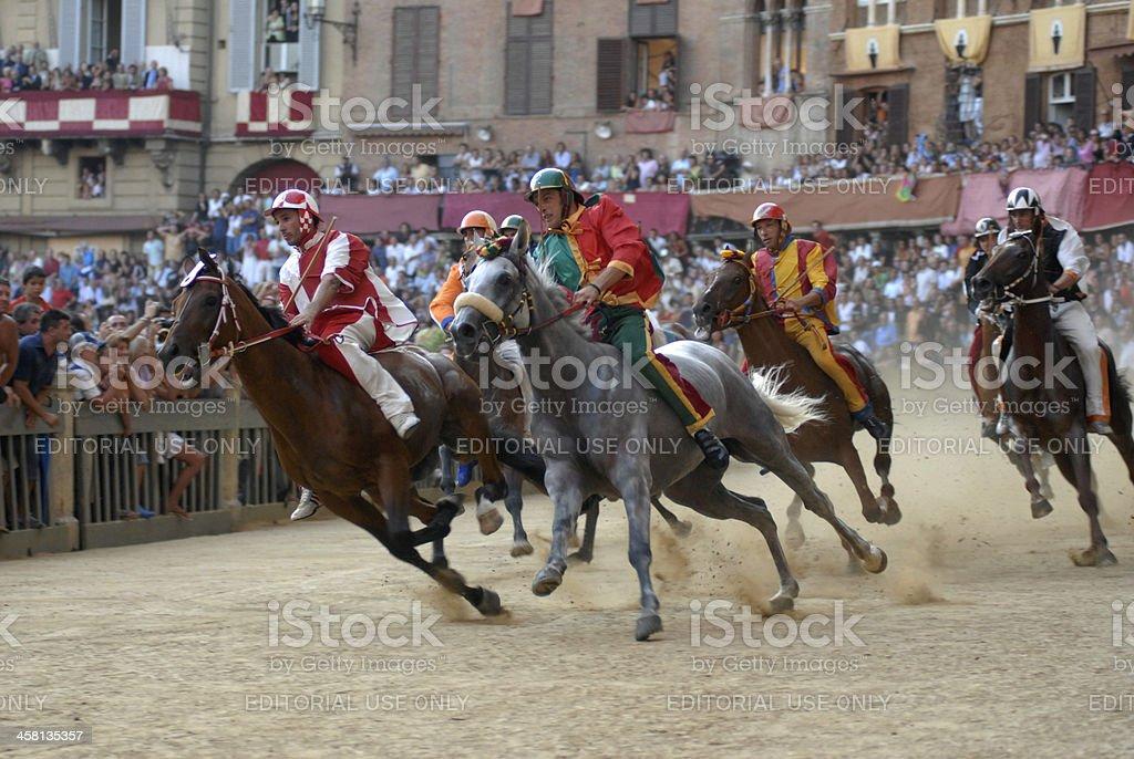Palio of Siena stock photo