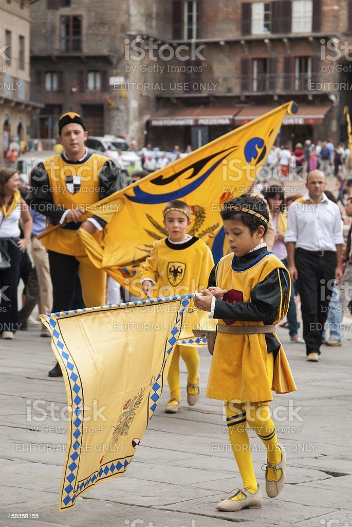 Palio Parade stock photo