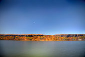 Palisades Cliffs along the Hudson River in Autumn
