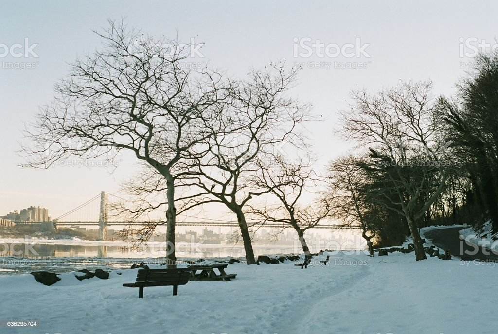 Palisades Park Wintry View stock photo