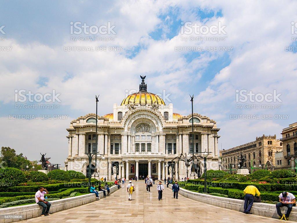 Pallacio de Bellas Artes in Mexico City stock photo