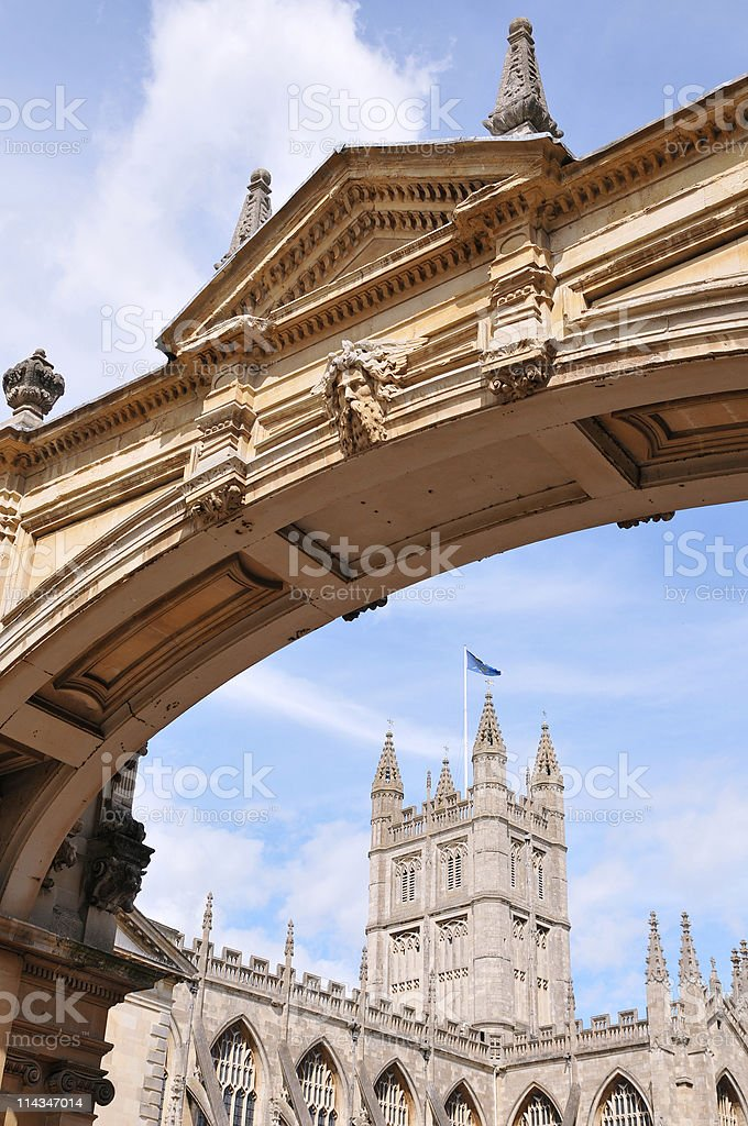 Palladian Archway in Bath City stock photo