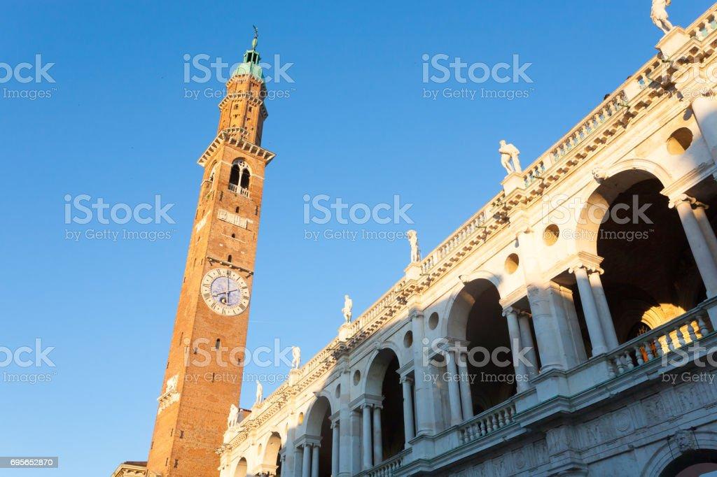 Palladian basilica view,Vicenza,Italy stock photo