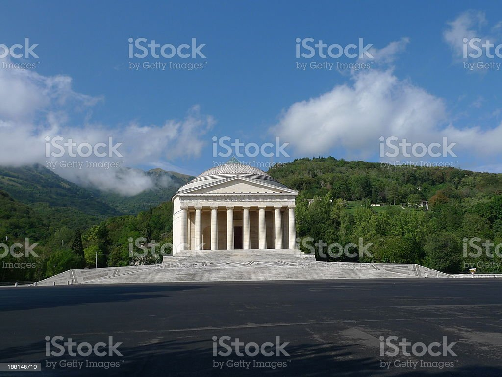 palladio's temple stock photo