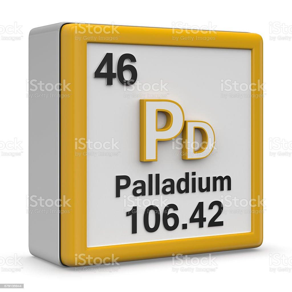 Palladium element stock photo