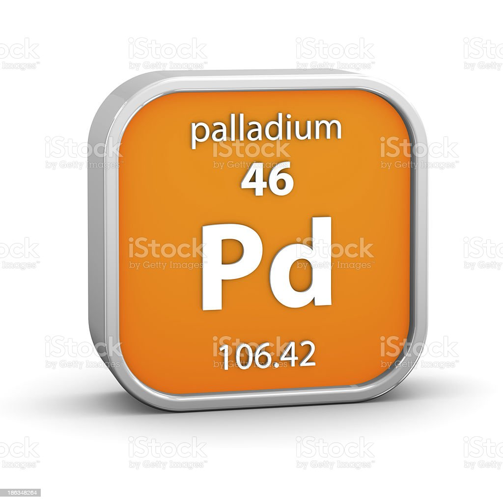 Palladium material sign royalty-free stock photo