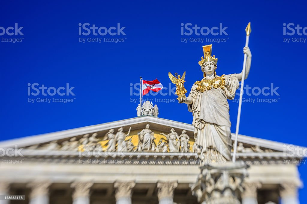 Pallas-Athene-Brunnen, Wien royalty-free stock photo